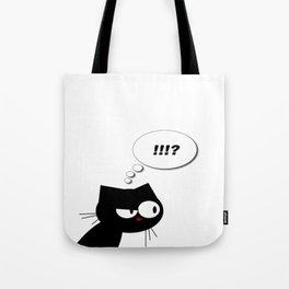 Q the cranky cat  Tote Bag