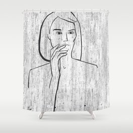 Wall Shower Curtain