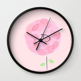 Flower D Wall Clock
