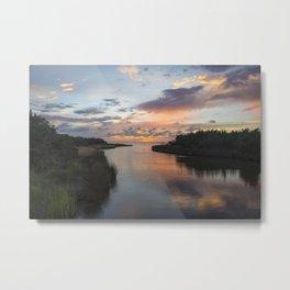 Sound Side Sunset Metal Print
