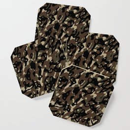 Camouflage Abstract Coaster