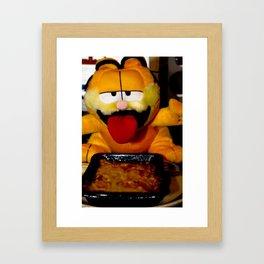 Garfield love lasagne Framed Art Print
