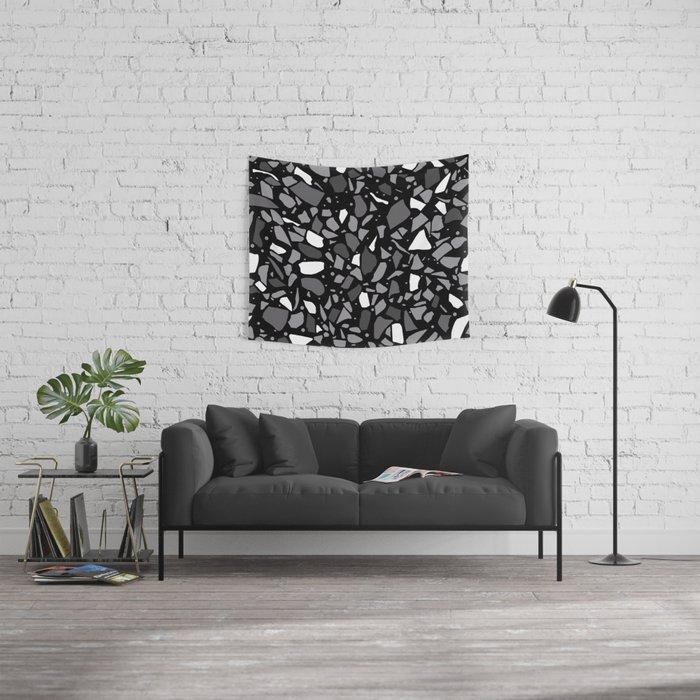 Terrazzo Spot Black 2 Wall Tapestry