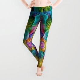 Colorful Fractal Juliascope Leggings