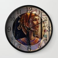 egyptian Wall Clocks featuring Egyptian by Ayu Marques