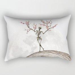 Blooming Skeleton (bright version) Rectangular Pillow