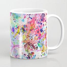 Abstract Bright Watercolor Paint Splatters Pattern Coffee Mug