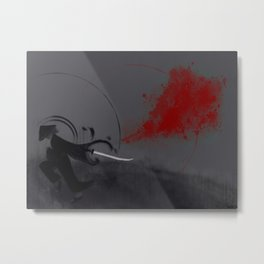 Samurai Blood Metal Print