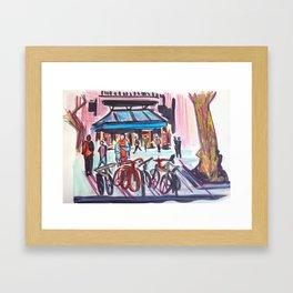 Les Rambles, Barcelona Framed Art Print