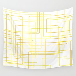 Yellow Line Pattern Wall Tapestry