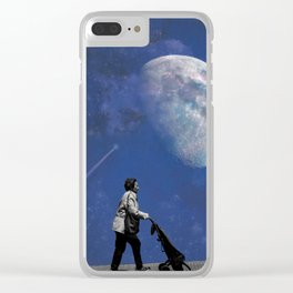 Shopping to the Moon and back Clear iPhone Case