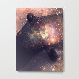Galaxy Breasts Mauve Teal Metal Print