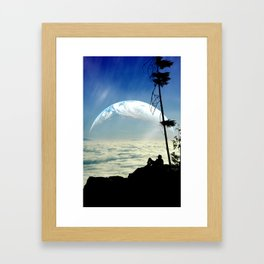 Solitude Above The Clouds Framed Art Print