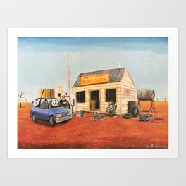 The Outback Petrol Station Art Print