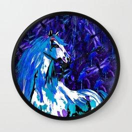 HORSE INDIGO Wall Clock