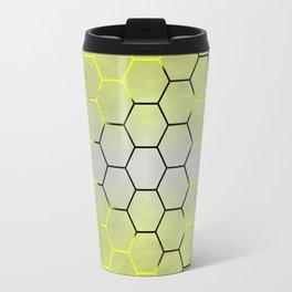 YELLOW HONEY COMB 03 Travel Mug