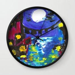 Venice by Night Wall Clock