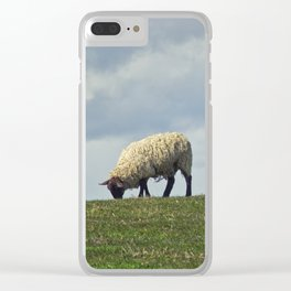 Sheep on the Hill Clear iPhone Case