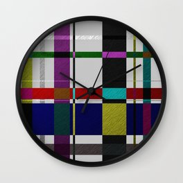 Streets Of Foil Wall Clock