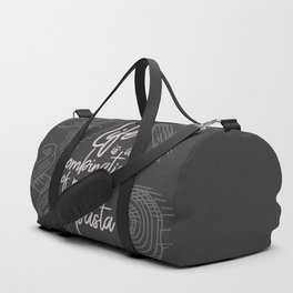 Federico Fellini on life, magic and pasta, inspirational quote, funny sentence, kitchen wall decor Duffle Bag