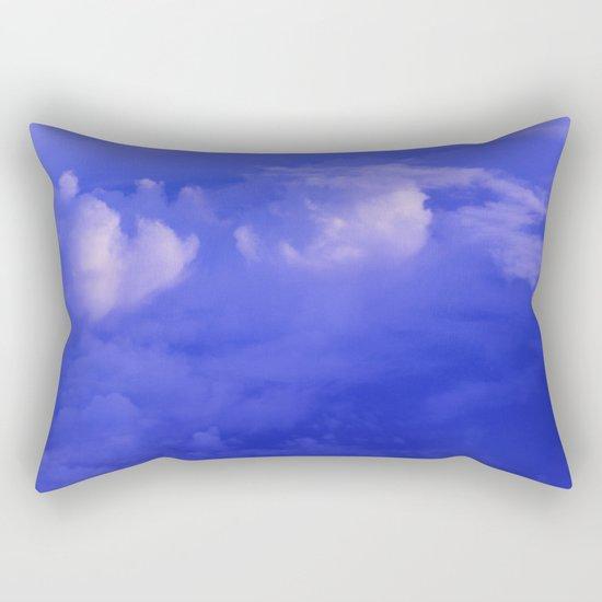 Aerial Blue Hues II Rectangular Pillow