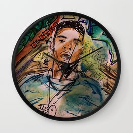 G herbo,poster,art,music,lyrics,decor,painting,small,canvas,rap,rapper,hiphop,ptsd,album,dope,street Wall Clock