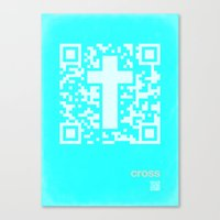 QR Cross Canvas Print