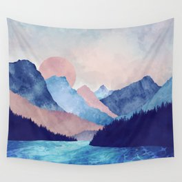 Light Blue Mountains Wall Tapestry