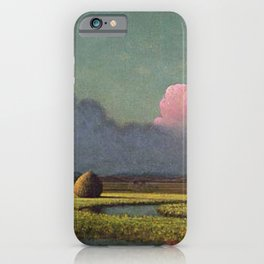 Sunlight And Shadow The Newbury Marshes By Martin Johnson Heade | Reproduction iPhone Case