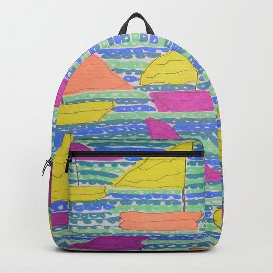 Sailboats Backpack