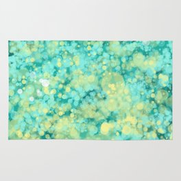 Mint and yellow sunny ocean Rug
