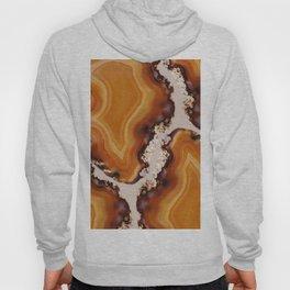 Orange Brown Agate Pattern #1 #gem #decor #art #society6 Hoody