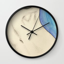 Les Femmes - a touch of blue Wall Clock