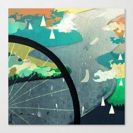 Green Commute Canvas Print