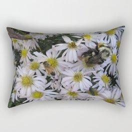 Queen Bumblebee White Aster Rectangular Pillow