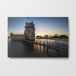 Torre de Belém at sunset Metal Print