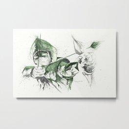 Arrow - Watercolor splatter artwork Metal Print