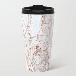 Gold Grey and White Sparkle Marble Travel Mug