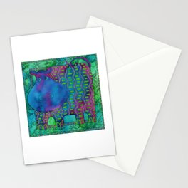 Patterned Hippo Stationery Cards