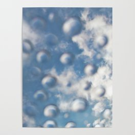 Sky Bubbles #abstract #art #society6 #decor Poster