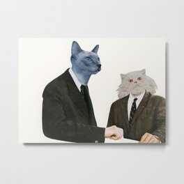 Cat Chat Metal Print