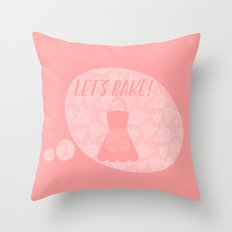 Let's Bake! Throw Pillow