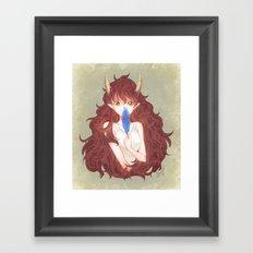 The smell of blue Framed Art Print