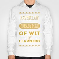 ravenclaw Hoodies featuring Ravenclaw by Dorothy Leigh