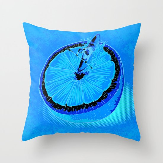 Rapid Orange Throw Pillow