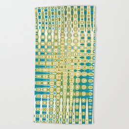Turquoise Abstract Beach Towel