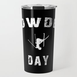 Powder Day Black Travel Mug