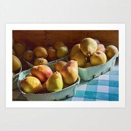 Pear Golden Art Print