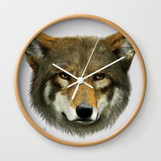 Wolf face Wall Clock