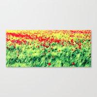 poppy Canvas Prints featuring Poppy by Falko Follert Art-FF77